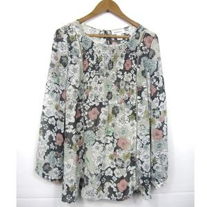 Motherhood Maternity Floral Top With Tank L